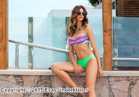Push-up-bikini med sick-sackmönstrad topp, 2